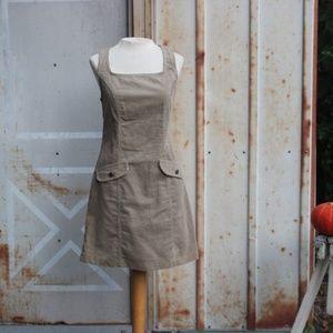 90s Tan Corduroy Jumper Dress